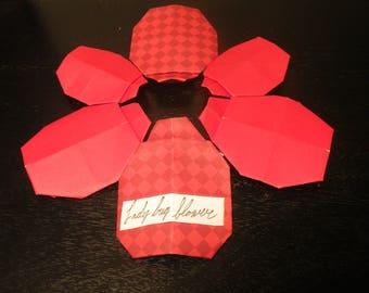 origami ladybug flower