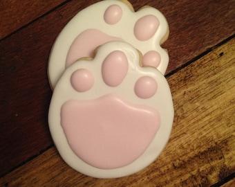 Bunny feet cookies