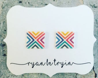 Geometric Print Earrings - Hostess Gift - Unicorn Hunter Gift - Team Gift - Consultant Gift - Thank You Gift - Launch - Pop Up Prize - Swag