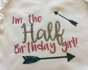 Half Birthday Onsie in Custom Colors!
