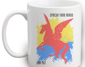 Spread Your Wings Mug | Gift | Unicorn | Fly