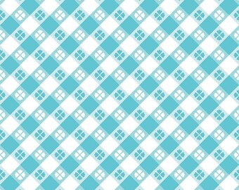 Glamper-Licious Picnic Aqua by Riley Blake Fabrics, Glamper Picnic Aqua C6312, Camper, Retro, Quilting Fabric, Cotton Fabric