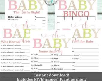 Shabby Chic Baby Shower Invitation | Baby Shower Invitation Girl |Baby Shower Printable | Baby Shower Games | Baby Shower Vintage Invite