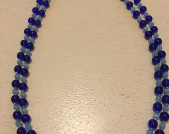 Double stranded Blue and turquiose necklace