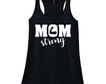 SALE! Mom Strong Racerback Tank (Workout, Fitness, Casual)