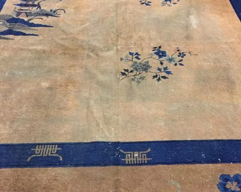Distressed Art DECO Chinese Palace Rug