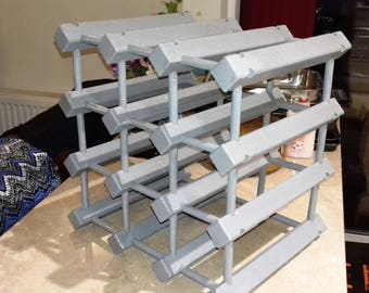 12 Bottle Countertop Wine Rack in Grey with a Hint of added Sparkle!