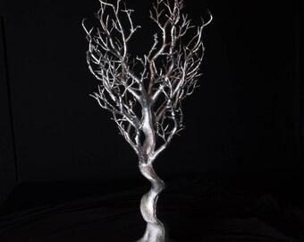 70cm Silver Manzanita Tree - Blank Centrepiece or Decoration | Event Craft Supplies