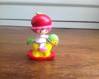 Vintage plastic strawberry shortcake figure Cherry cuddler