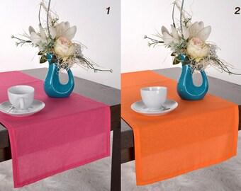 Orange table runner, Amaranth cotton table runner, kitchen table