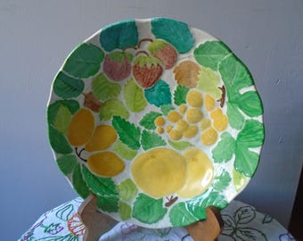 Plate, fruit relief pattern hand - painted fruit