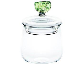 Lime Glass Jar