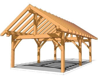 16×24 Timber Frame Plan