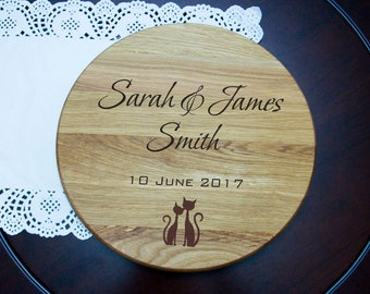 Cutting board personalized engraved, Wedding Gift