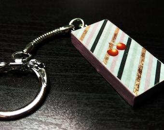 Cherry Domino Keychain