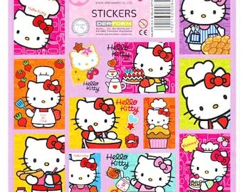 Sanrio Chef Hello Kitty Love Cook Bake Dessert Stickers Sheet