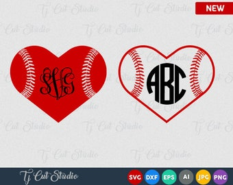 Baseball Heart Svg, baseball svg file, softball svg heart, softball svg file, baseball heart svg, baseball softball heart