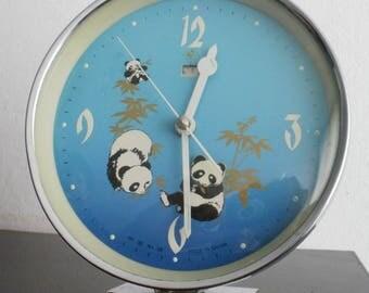 Vintage China Animated mechanical clock panda