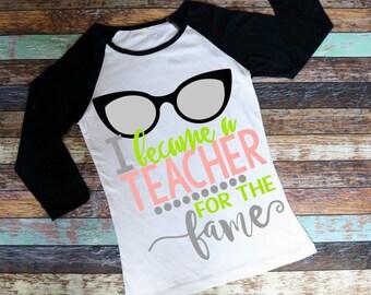 Teaching for the fame,Teacher Apperception, School Days, I Love Teachers