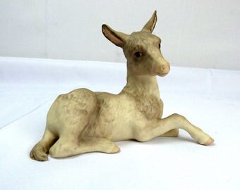Vintage Cybis Porcelain Figurine DONKEY Burro Benjamin Christmas Nativity 1983