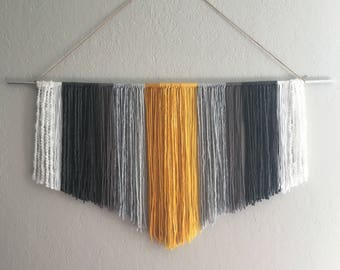 Gray and Yellow fringe