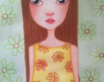 Original painting, girl painting, pencil painting, watercolor painting, acrylic painting,