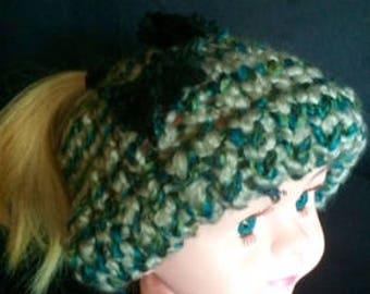 Cute multi color dirty bun with  black bows, 1yr-2yr.