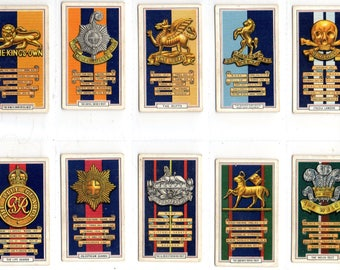 "Full set of 48 ""Army Badges"" Cigarette Cards from 1939"