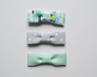 Sea Foam Bow Set