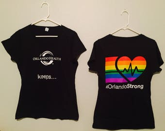 Orlando Health keeps Orlando Strong Black V-Neck Shirt - Fundraiser #OrlandoStrong