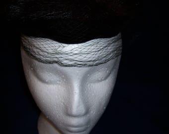 Vintage Fur and Mesh Head Piece