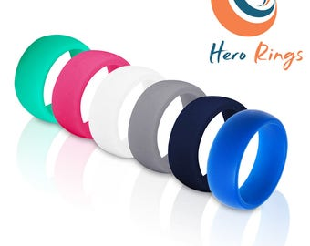 2 For 1 Rubber Silicone Wedding Ring WORK SPORT LOVE Protect Comfort for Active Lifestyle.. Crossfit  ... Plus  Free Shipping!!