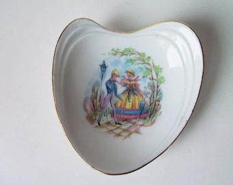 """Vintage porcelain trinket 3.5""""  mini plate , Germany (#EV64)"""