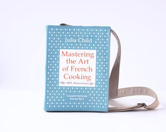 French Cooking Leather Book Bag Julia Child Book Purse