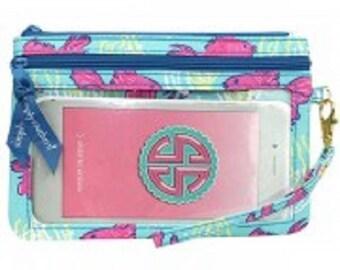 Simply Southern Hampton Fish Phone Wristlet Purse Wallet