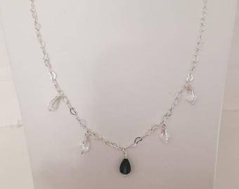 Handmade 925 Sterling Silver Briolette Necklace