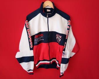 vintage Wilson jacket sport multicoloured casual hip hop style large mens