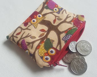 Owl Coin Purse, Card Wallet, Money Wallet, Coin Purse, Card Purse - Ready for Dispatch