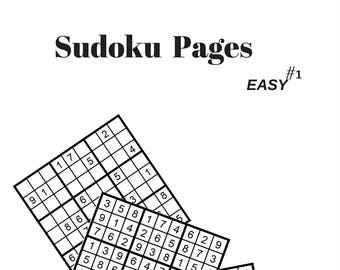 Sudoku Easy Puzzle Page #1