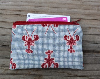 Zip Pouch Small Lobsters