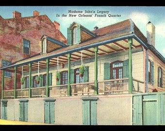 French Quarter NOLA Postcard Madame John Legacy New Orleans Louisiana LA PC