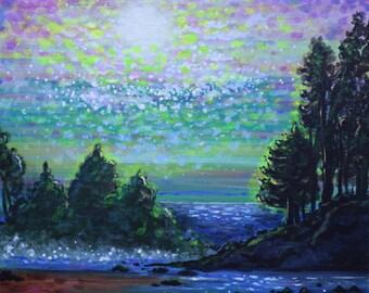 Green Landscape Fine Art PRINT of Original Painting