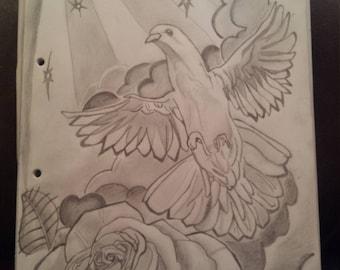 handmade pencil drawings