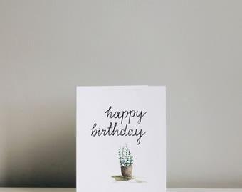 Happy Birthday Succulent Card