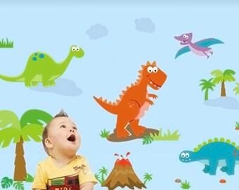 Dinosaur Wall decals removable sticker kids art nursery decor