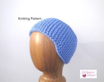 Ear Warmer Headband with Ear Flaps, Knitting Pattern, Easy Knit, Child Teen Adult, Worsted Chunky Yarn