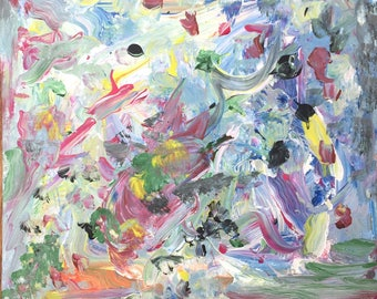 Painting abstract wild by Madelon van Noort