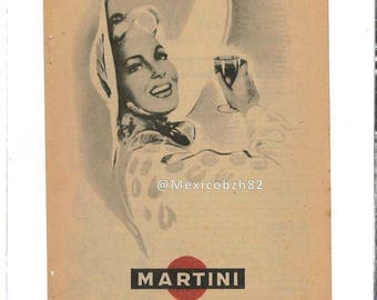 Old 50s MARTINI drink beverage alcohol advertising
