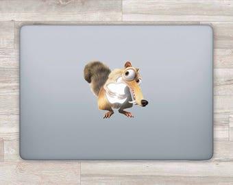 Ice Age MacBook Decal Scrat MacBook Sticker Apple Logo Decal Laptop Decal Laptop Sticker MacBook Pro 2016 MacBook Retina Air Acorn Nut bn533