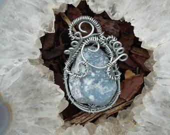 Angelite pendant